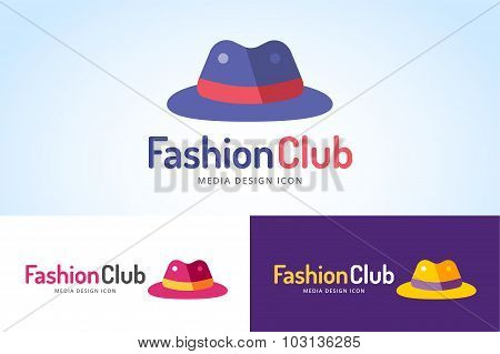 Shopping hat icon logo isolated on white background.