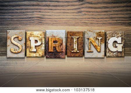 Spring Concept Letterpress Theme