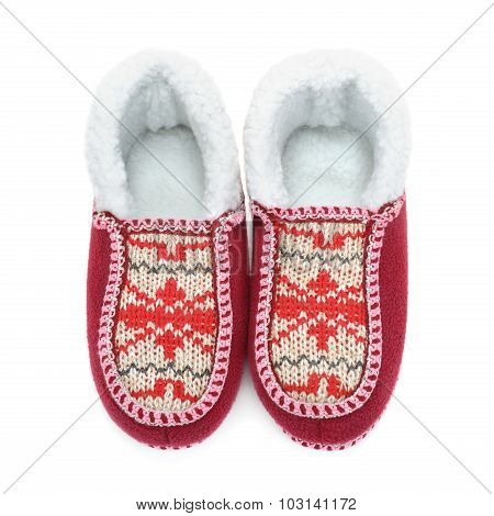House Slippers Isolated On White Background