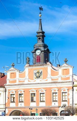 town hall at Ressel''s Square, Chrudim, Czech Republic