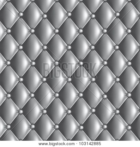 Silver Quilted Texture