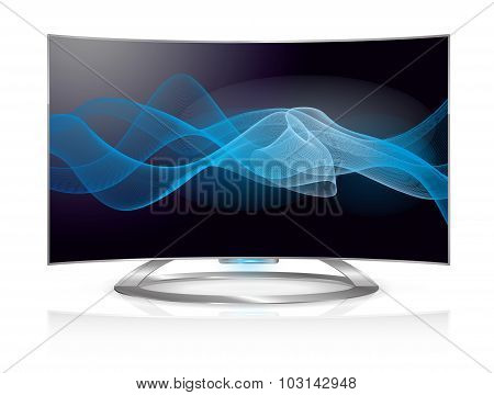 Curved Tv Waves Screen