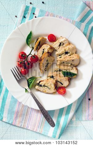 Chicken Fillet Baked With Parsley And Butter