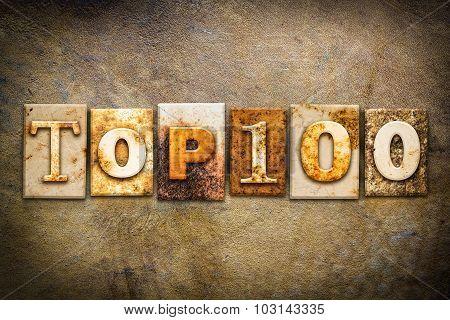Top 100 Concept Letterpress Leather Theme