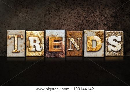 Trends Letterpress Concept On Dark Background