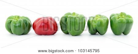 Red And Green Peppers.