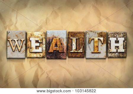 Wealth Concept Rusted Metal Type