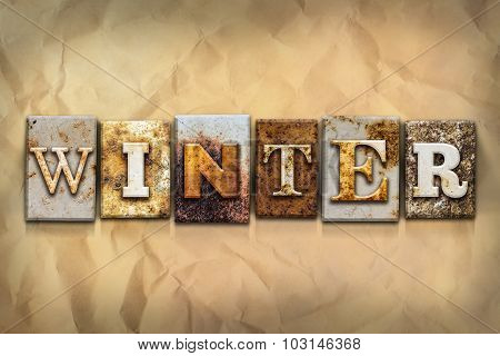 Winter Concept Rusted Metal Type