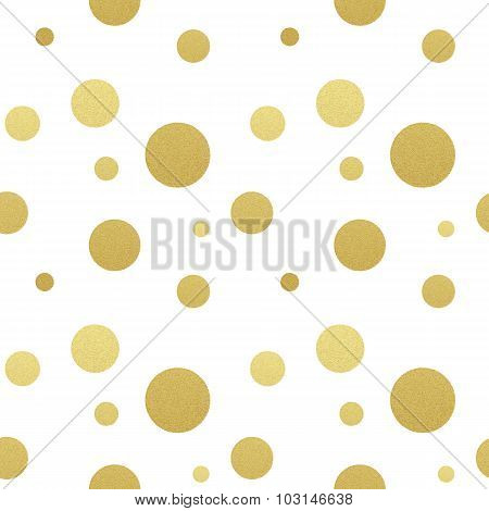 Classic dotted seamless gold glitter pattern.