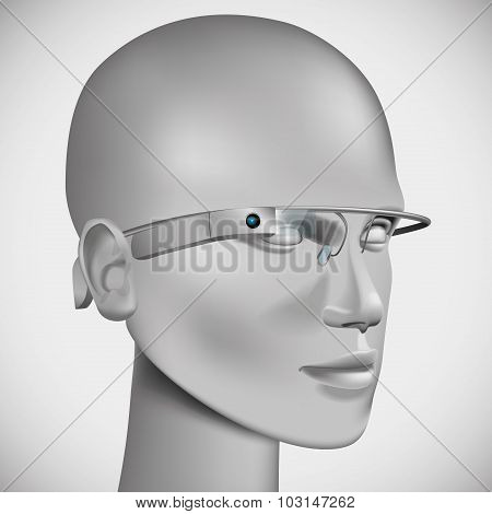 Head Wearing Virtual Glasses