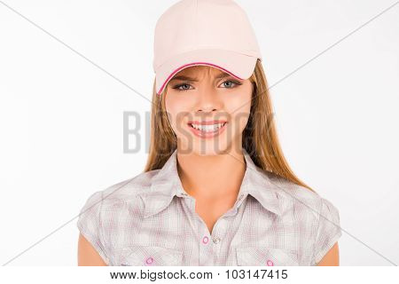 Suspicious Girl With A Cap