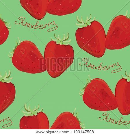 Illustration of seamless pattern strawberry