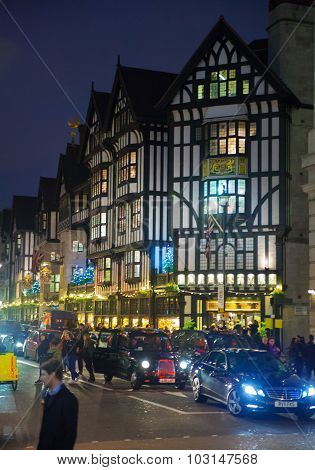 LONDON, UK - NOVEMBER 30, 2014: Black Friday weekend in London the first sale before Christmas. Rege