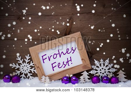 Purple Decoration, Snow, Frohes Fest, Merry Christmas, Snowflake