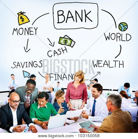 Bank Financial Investment Savings Money Concept
