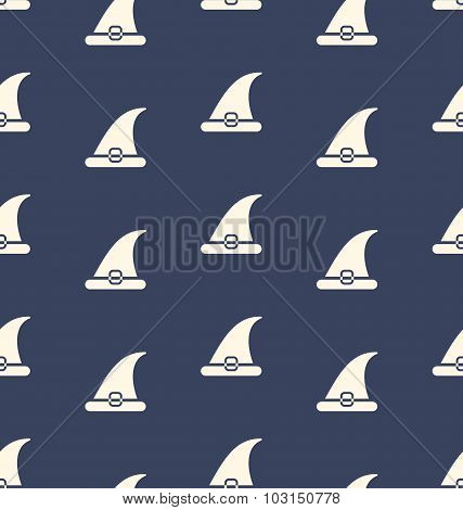 Seamless Pattern with Halloween Traditional Hat