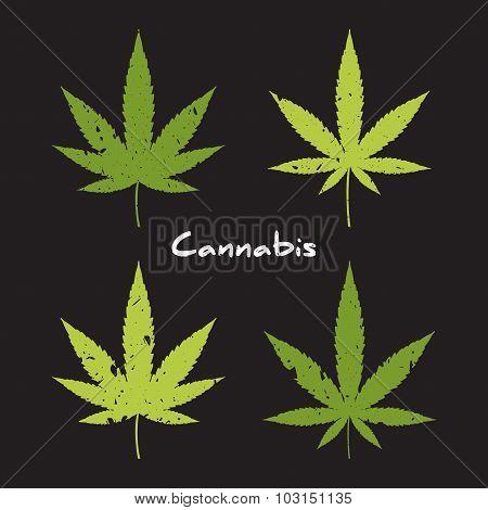 Cannabis logo set.