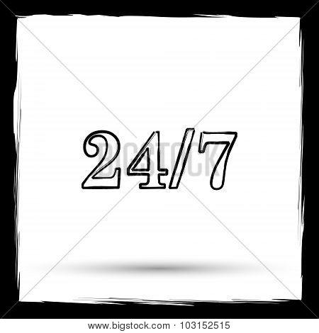 24 7 Icon
