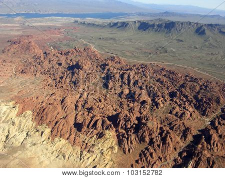 Rocky Terrain Of Nevada Near Lake Mead