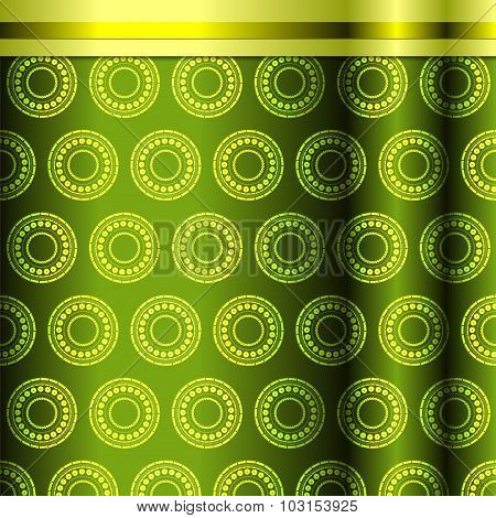 Seamless Pattern In Green Tones