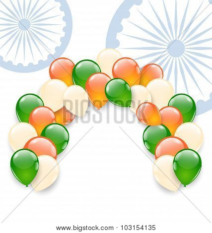 Balloons in National Tricolor