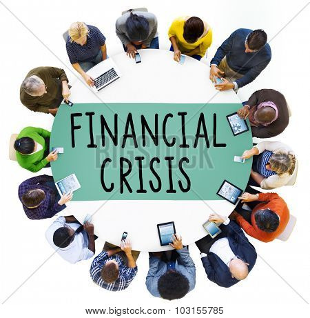 Financial Crisis Bankruptcy Depression Finance Concept