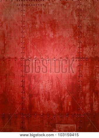 Red ship plate texture ideal for backgrounds