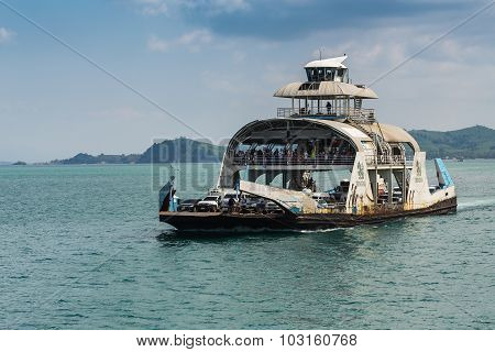 Port Ferry Boat  In Koh Chang Island, Trat, Thailand.