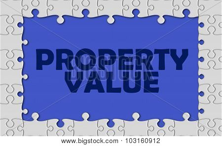 Property Value With Jigsaw Border
