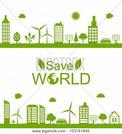 Concept Green Futuristic World