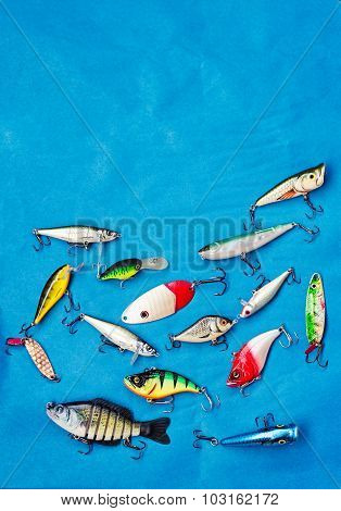 Fishing Lures Background