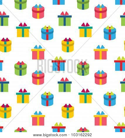 Seamless Texture of Colorful Present Boxes