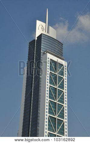 Millennium Tower on Sheikh Zayed Road in Dubai, UAE