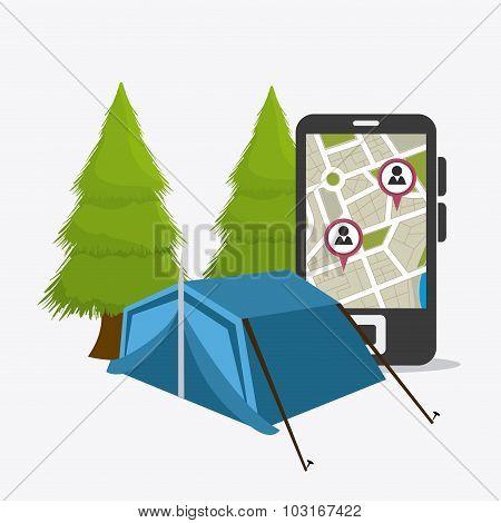 Camping travel and vacations.