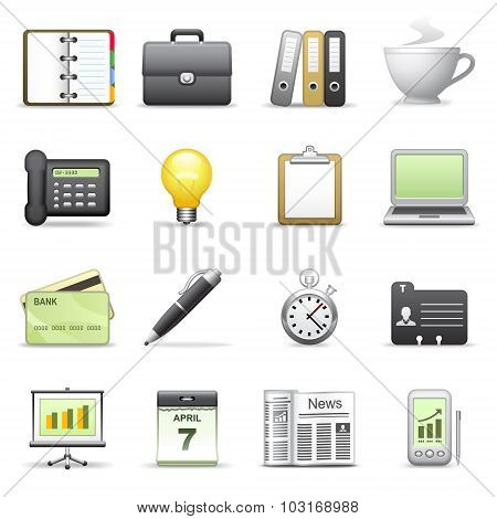 Stylized Icons. Business.