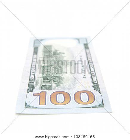 Single hundred dollar note