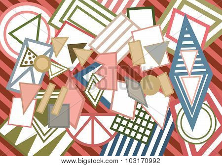 Abstract Geometric Shapes Background