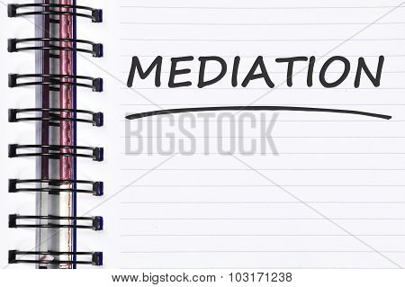 Mediation Words On Spring Note Book