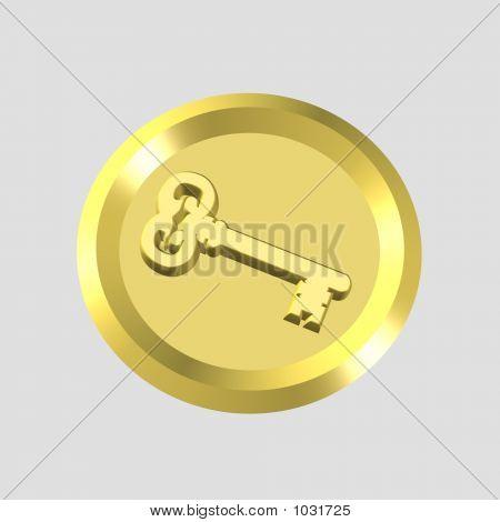 3D Key Icon