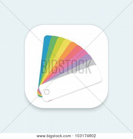 Design Color Guide Fan Flat Vector Mobile OS Application Icon fo