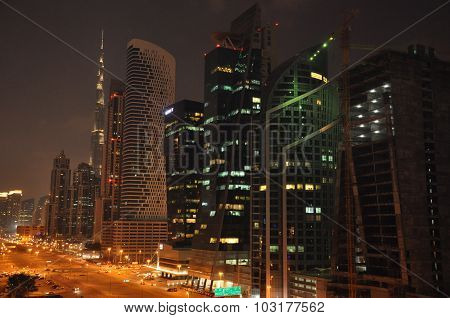 Sheikh Zayed Road in Dubai, UAE