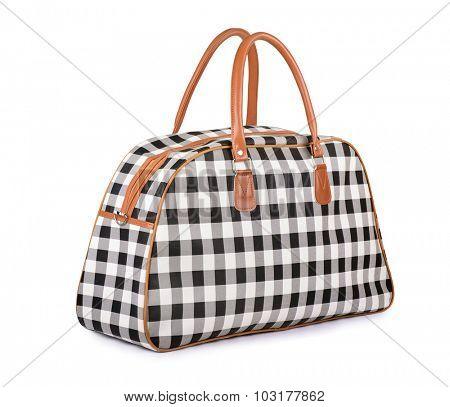 Travel handbag isolated on white