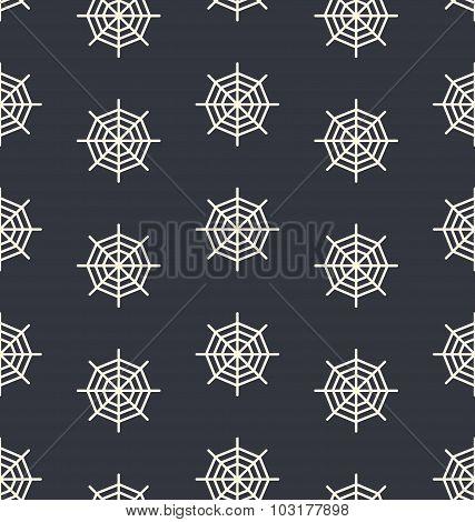 Seamless Dark Pattern Spider Web for holyday design