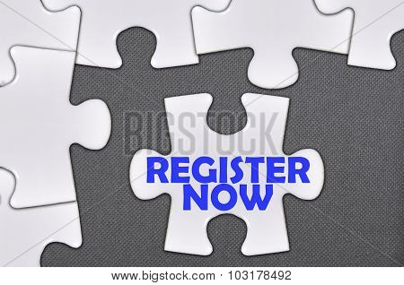 Jigsaw Puzzle Written Word Register Now