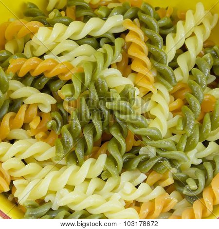 Macaroni Or Pasta Ready For Cooking