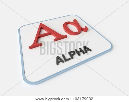 Alpha Greek Symbol