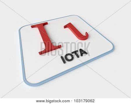 Iota Greek Symbol
