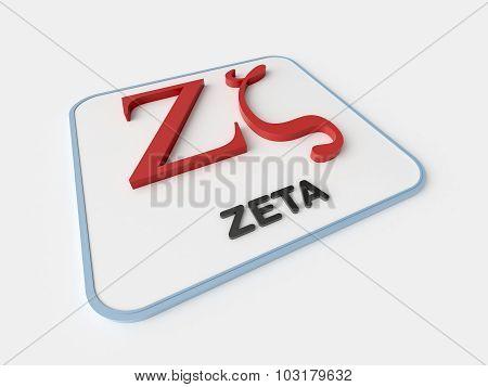 Zeta Greek Symbol