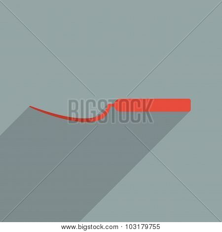 Flat icons modern design with shadow of tools for bricklayer