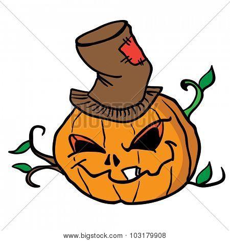 pumpkin head cartoon illustration